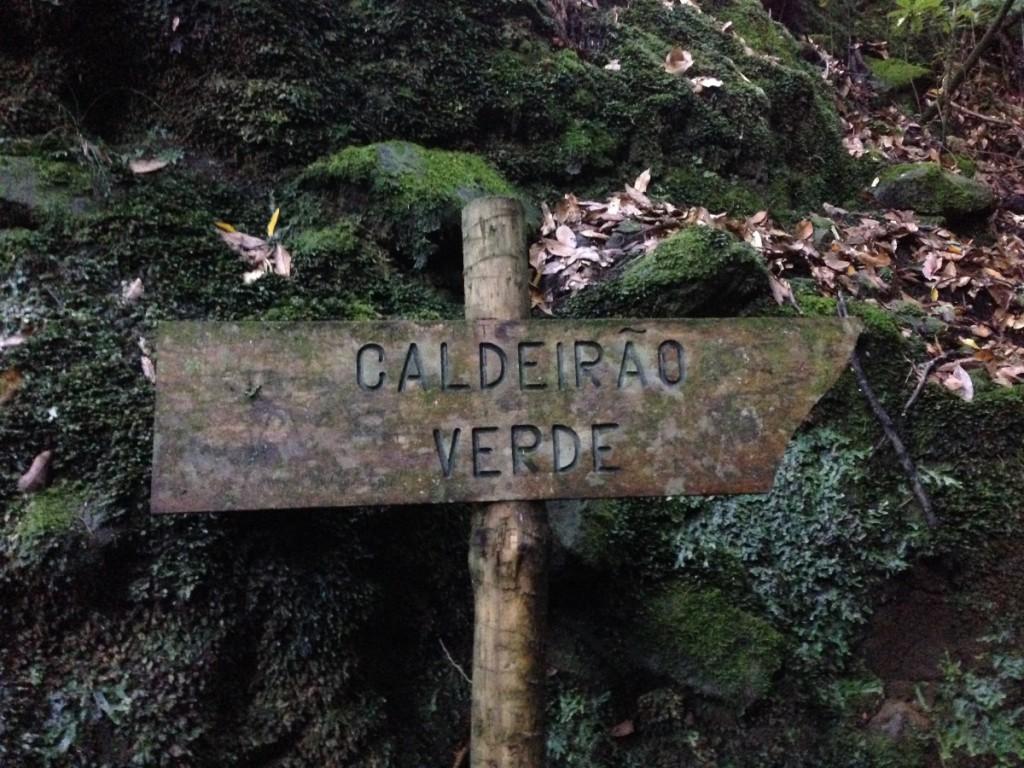 Caldeirao Verde - Wegweiser