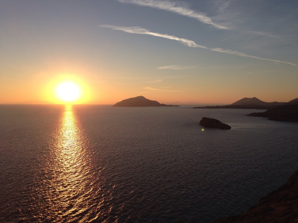Sonnenuntergang Piraeus-Kreuzfahrt