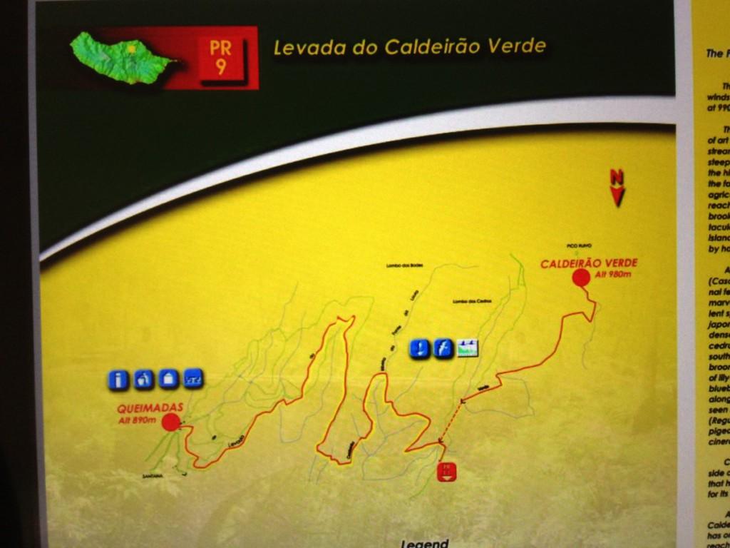Wegbeschreibung Caldeirao Verde