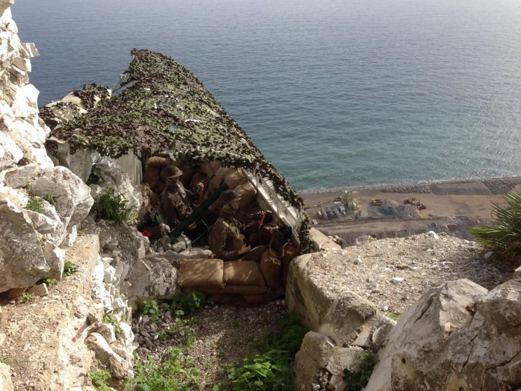 verteidigungsanlage im Fles auf Gibraltar
