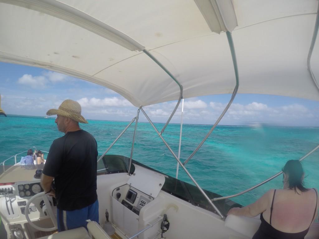 Skipper bei Rochen-Tour