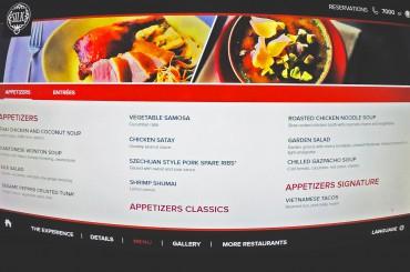 Speisekarten von Royal Caribbean – Silk, The Grande, American Icon Grill und CHIC