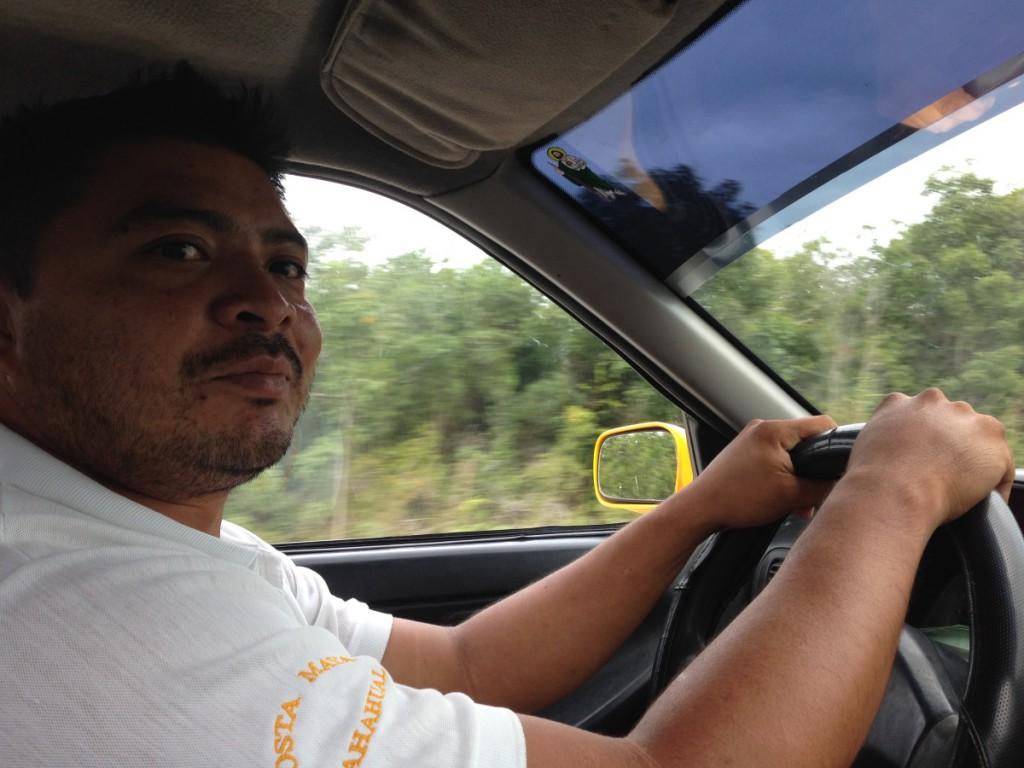 Taxifahrer, Costa Maya