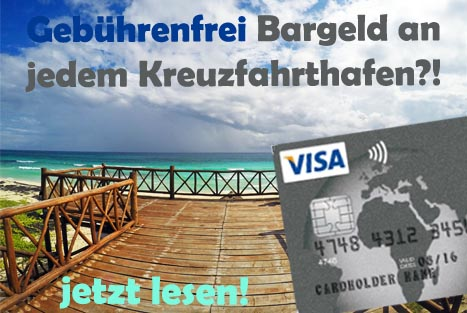 Bankkarte für Kreuzfahrten