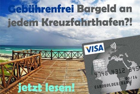 Bankkarte für Kreuzfahrten