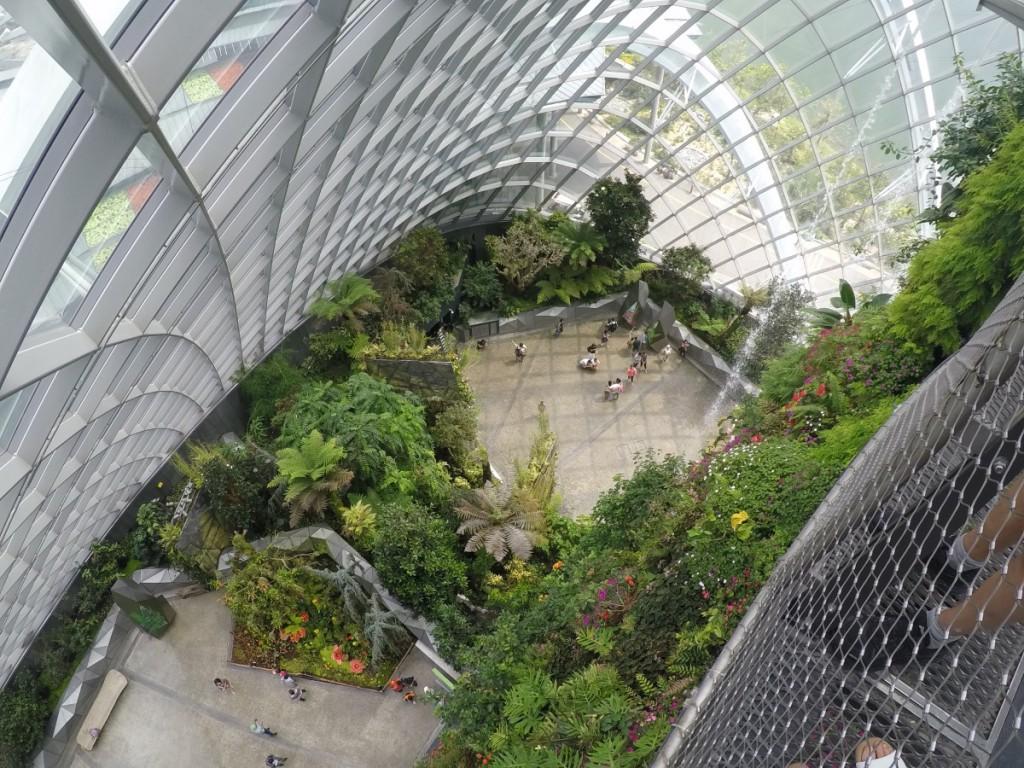 Gewächshaus in Singapur von oben