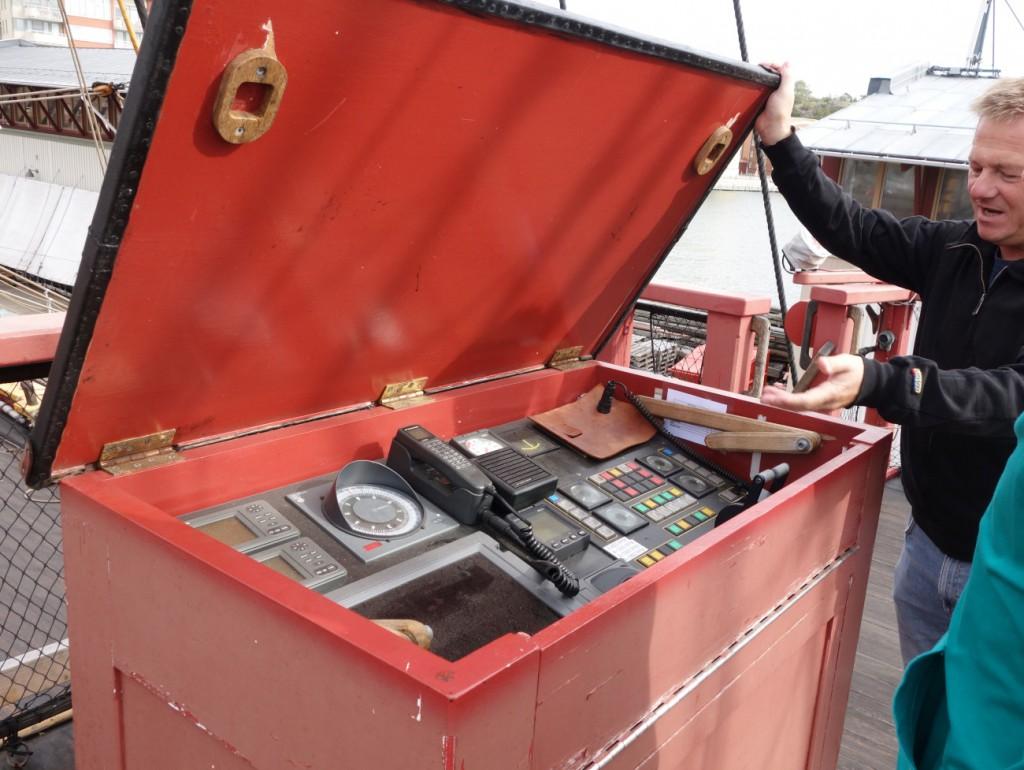 Schiffsinstrumente in Schweden werden versteckt