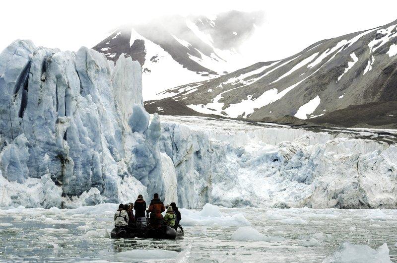 Svalbard Zodiac Gletscher